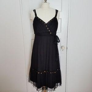Boston Proper | Black Silk Gauze Boho Dress 12